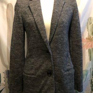 Vince black and gray wool blazer
